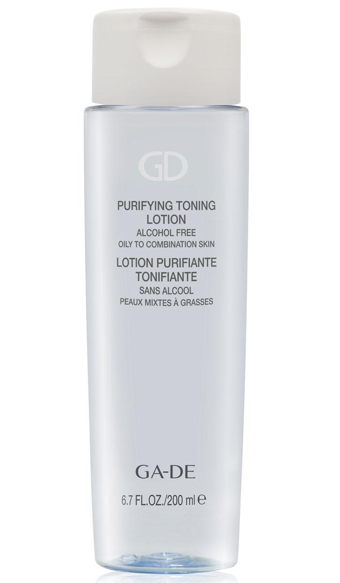 GA-DE Тоник для лица Purifying Toning Lotion (для жирной и комбинированной кожи), 200 млFS-00103Завершающий этап очищения. Специальный тоник для поддержания постоянства кожной среды. Предназначен для жирной и комбинированной кожи лица. Оказывает успокаивающее действие на кожу, стимулирует внутриклеточную выработку антимикробных пептидов, сужает поры, увлажняет жирную кожу. Экстракт мяты очищает и освежает кожу, тонизирует и повышает ее упругость.