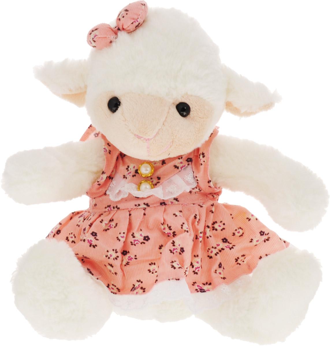 Magic Bear Toys Мягкая игрушка Овечка девочка цвет розовый 23 см SP47048_розовый