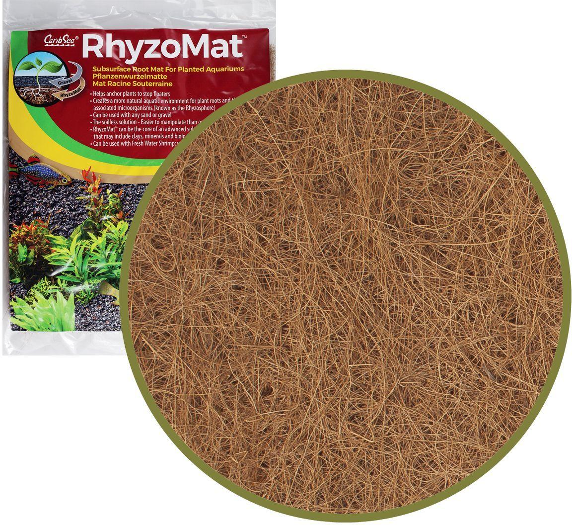 Мат подгрунтовый корневой Caribsea , 30 x 60 см0120710Натуральный волокнистый мат помогает растениям закрепить корни и создать естественную водную среду для корней и связанных с ними микроорганизмов. Может использоваться с любым песком или гравием. Не повышает pH. Может быть разрезан или разорван на нужные размеры.