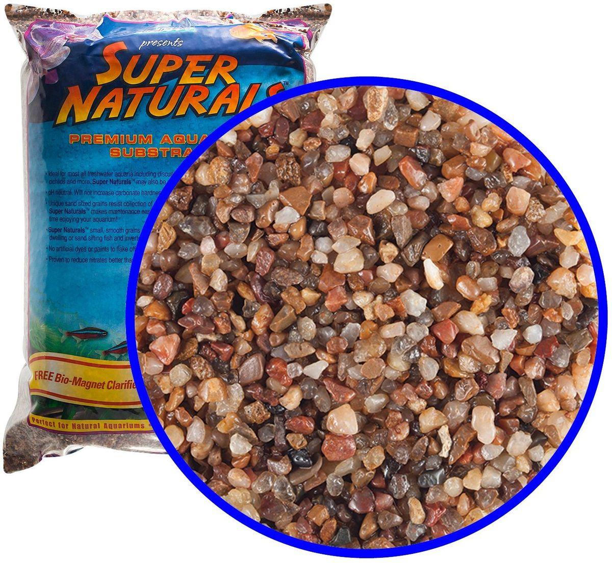 Аквагрунт пресноводный Caribsea Pease River, цвет: мульти, 1-2 мм, 9 кг00832Аквариумный грунт премиум-класса с гладкими гранулами, безопасными для рыб и не препятствующими сбору отходов. Имеет нетральный уровень pH, не увеличивает карбонатную жесткость. Смесь цвета ассорти. Размер 1-2 мм.