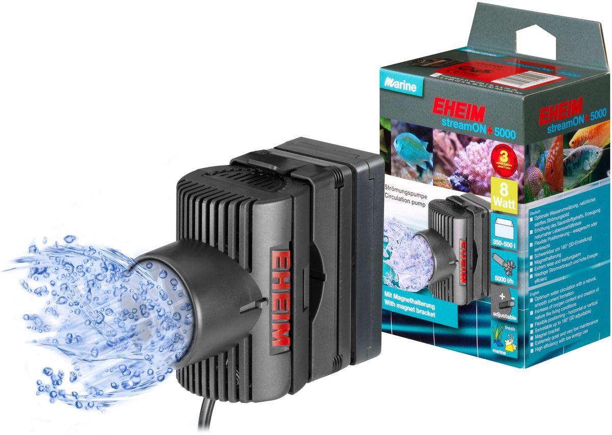 Помпа перемешивающая Eheim Stream-On+ 50000120710Оптимальная циркуляция воды и повышение содержания кислорода; естественное мягкое течение;гибкая установка в различное положение благодаря вращающемуся устройству крепления; 3D установка, вращение 180*; практически бесшумный и с низкими эксплуатационными расходами; низкое электропотребление и высокая энергоэффективность.