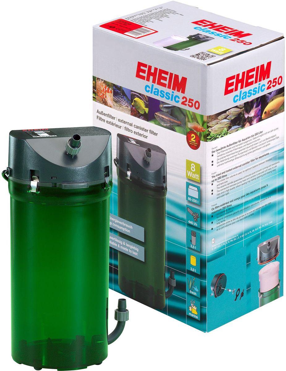 Фильтр внешний Eheim Classic 250, краны, губки0120710Надежнаяи проверенная стандартная линия фильтров с отличными механическими и биологическими фильтрующими свойствами.