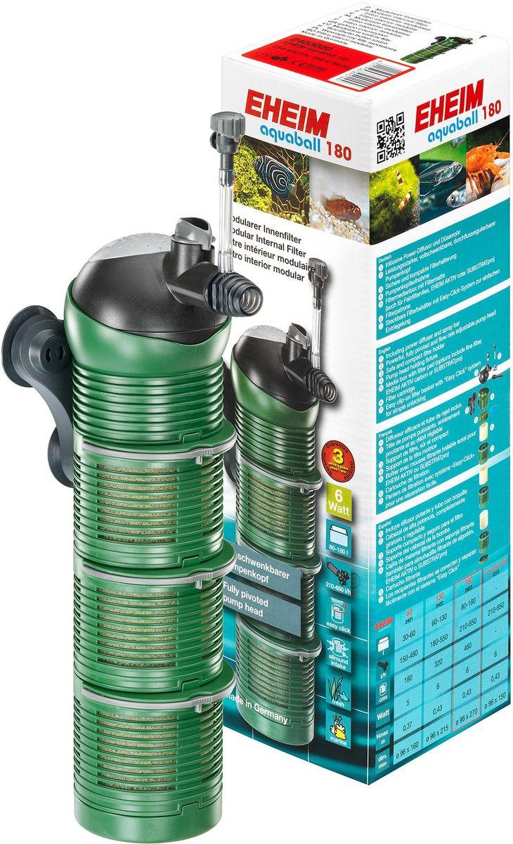 Фильтр внутренний Eheim Aquaball 1802403020Снабжен поворотной головкой для регулировки направления потока воды. Всасывание воды со всех сторон для эффективного использования всего фильтра