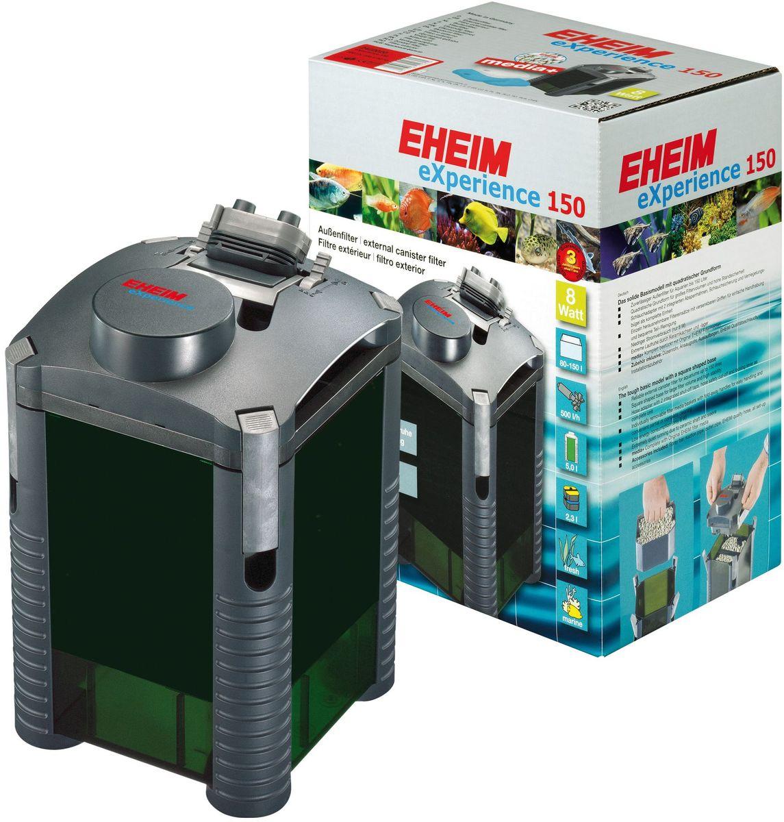 Фильтр внешний Eheim Experience 1502422020Прочная базовая модель квадратной формы для фильтров большого обьема и высокой устойчивости. Съёмный адаптер для шланга со встроенными запорными кранами,защитным покрытием шланга и прижимной скобой в виде единого блока. Отдельно съёмные корзины для наполнителей с выдвижными ручками для удобства при перемещении и удобной частичной/полной очистки.