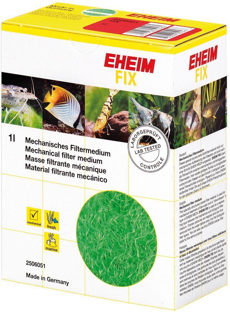 Наполнитель для фильтра Eheim Fix, волокно, 1 л0120710Фильтрующий материал- волокно для предварительной очистки и улавливания твердых частиц грязи. Устанавливается между механической и биологическими фильтрующими материалами. Не содержит фенол. Для морских и пресноводных аквариумов.