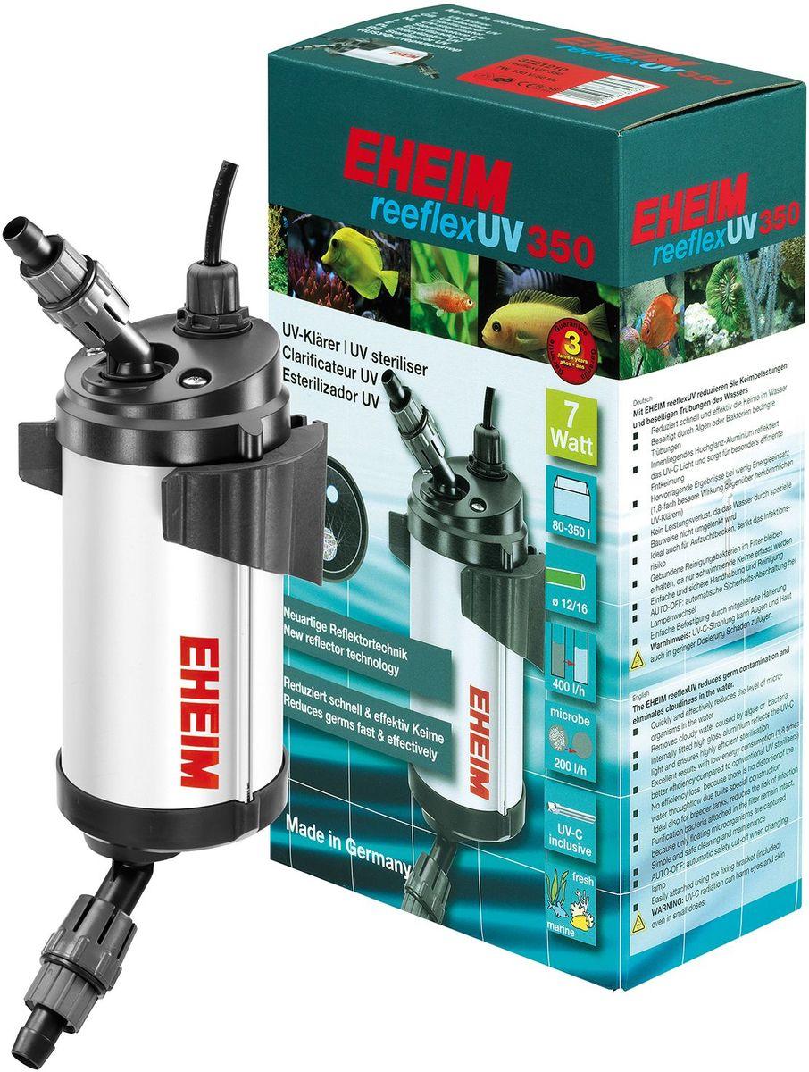 Стерилизатор для аквариума Eheim Reeflex-Uv-3503721210Быстро и эффективно снижает количество микроорганизмов в воде. Устраняет замутнение, вызванное водорослями или бактериями. Находящийся внутри глянцевый алюминиевый слой отражает УФ свет и обеспечивает особо эффективное обеззаораживание. Предотвращает потерю производительности благодаря специальной конструкции, сохраняющей движение воды. Также идеально подходит для отсадников, снижает риск инфекционного заражения.Фильтрующие бактерии, обитающие в субстракте, сохраняются до появления плавающих форм. Простой и безопасный в обращении и очистке. AUTO-OFF автоматическое предохранительное отключение при замене ламп.