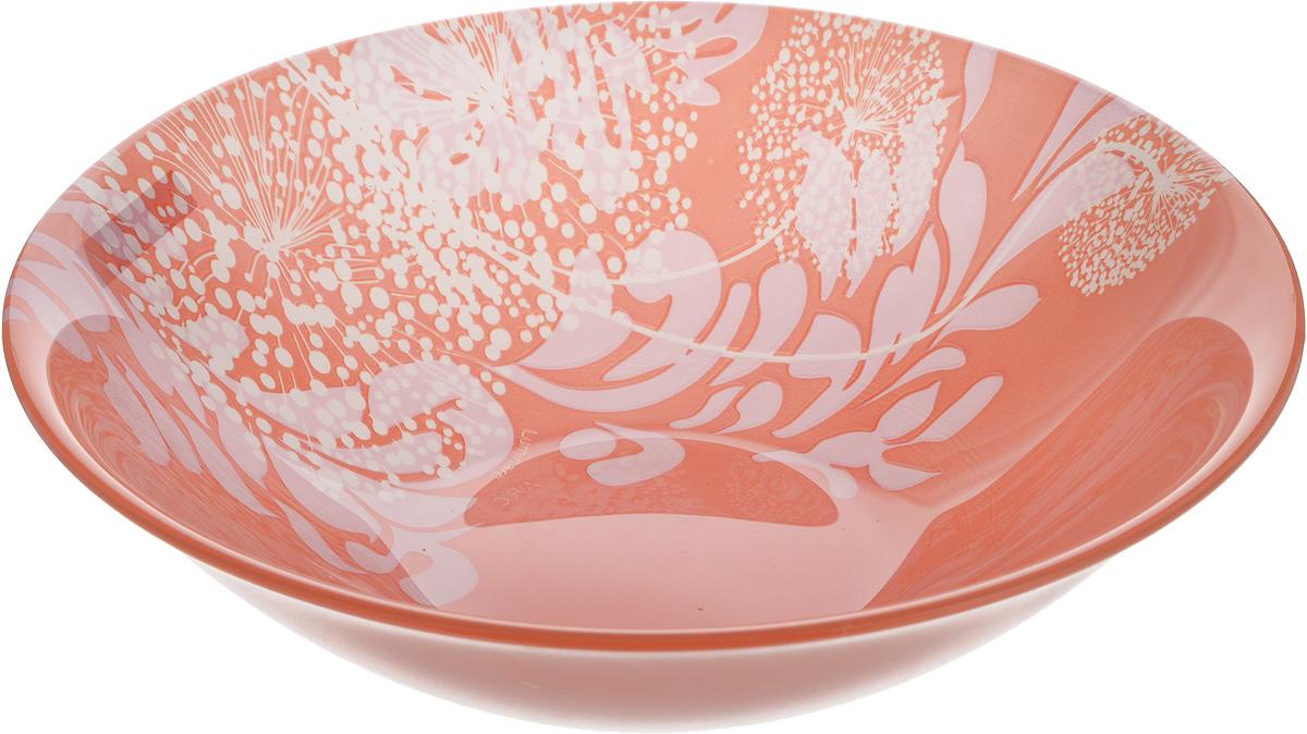 Салатник Luminarc Pium Pink, диаметр 17 см115510Великолепный круглый салатник Luminarc Pium Pink, изготовленный из ударопрочного стекла, прекрасно подойдет для подачи различных блюд: закусок, салатов или фруктов. С внутренней стороны изделие оформлено оригинальным цветочным принтом. Такой салатник украсит ваш праздничный или обеденный стол, а оригинальное исполнение понравится любой хозяйке. Бренд Luminarc - это один из лидеров мирового рынка по производству посуды и товаров для дома. В основе процесса изготовления лежит высококачественное сырье, а также строгий контроль качества. Товары для дома Luminarc уважают и ценят во всем мире, а многие эксперты считают данного производителя эталоном совершенства. Диаметр салатника (по верхнему краю): 17 см.