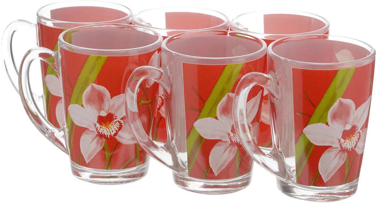 Набор кружек Luminarc Красная орхидея, 320 мл, 6 штVT-1520(SR)Набор Luminarc Красная орхидея состоит из шести кружек с удобными ручками, выполненных из прочного стекла. Оформлены кружки ярким цветочным принтом. Посуда Luminarc будет радовать вас качеством изготовления. Изделия можно использовать в микроволновой печи. Разрешено мыть в посудомоечной машине. Объем кружки: 320 мл.Диаметр (по верхнему краю): 8 см.Высота: 11 см.
