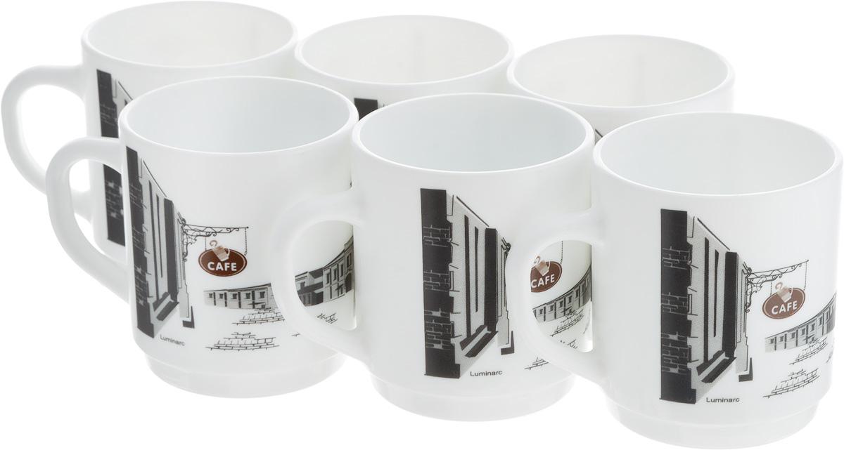 Набор кружек Luminarc ПАРИЖ, 290 мл, 6 штL7715Набор Luminarc ПАРИЖ состоит из шести кружек с удобными ручками, выполненных из прочного стекла c глазурованным покрытием. Оформлены кружки принтом с изображением города. Посуда Luminarc будет радовать вас качеством изготовления. Изделия можно использовать в микроволновой печи. Разрешено мыть в посудомоечной машине. Объем кружки: 290 мл. Диаметр (по верхнему краю): 8 см. Высота: 9 см.