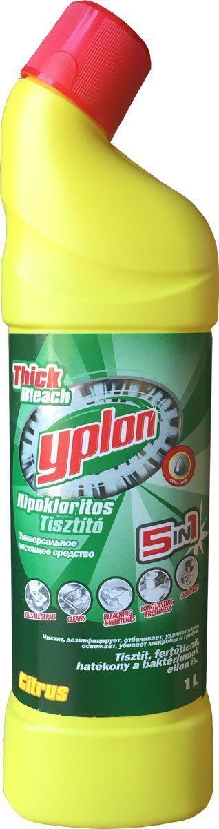 Гель для чистки унитаза Yplon, 1 л. 301060301060Гель для унитазов Yplon имеет густую консистенцию. Средство эффективно очищает, придает ослепительную белизну обрабатываемой поверхности, а также дезинфицирует и ароматизирует. Гель имеет удобную форму флакона с носиком, который позволяет нанести жидкость под самую кромку унитаза.