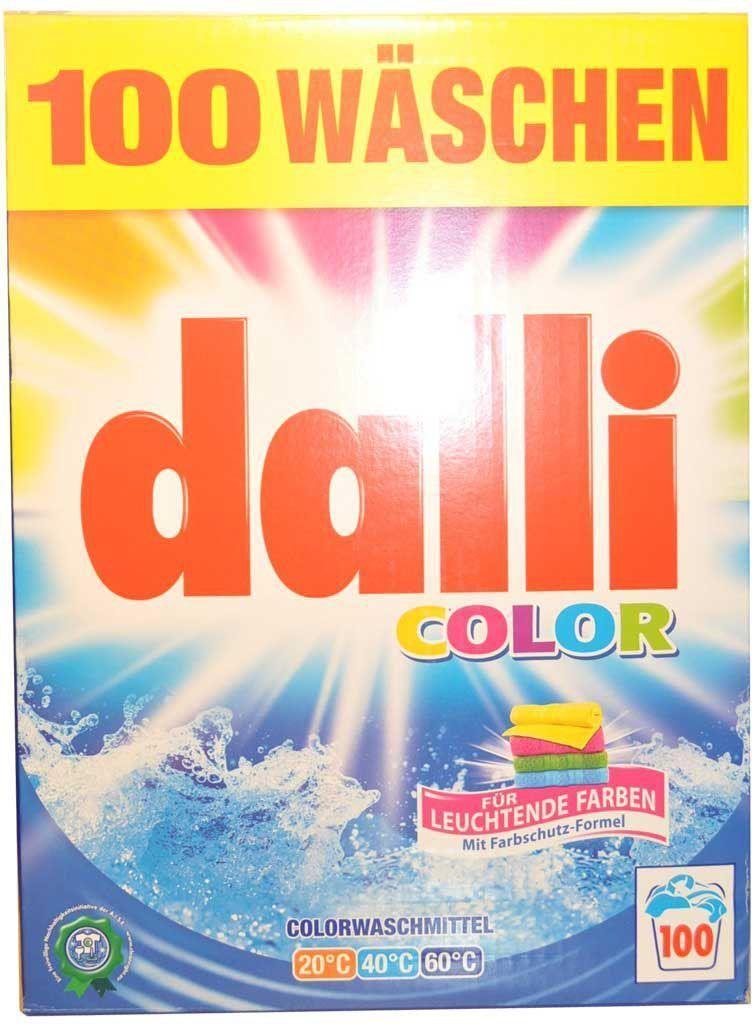 Стиральный порошок Dalli Колор, для цветного белья, на 100 стирок, суперконцентрат, 6,5 кг527946Концентрированный стиральный порошок для цветных и белых тканей, не требующих отбеливания, с формулой сохранения цвета и защиты волокон, хорошо растворяется, не требуется замачивания. Не содержит фосфатов, не требует дополнительных средств от извести. Температура стирки 30 - 60 С. Применение: дозировка: нормальное загрязнение, средняя вода - 85 мл (70 г), ручная стирка - 30 мл на 10 л воды. Состав: менее 30% цеолит, 5-15% неанионные тензиды, анионные тензиды, более 5% фосфанаты, полукарбоксилаты.