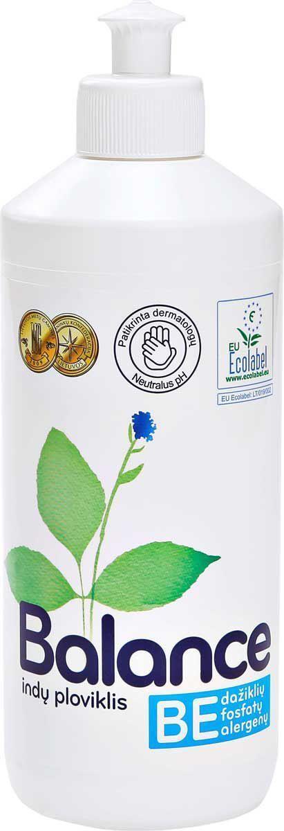 Эко-гипоаллергенное средство для мытья посуды Balance, концентрированное, 500 мл534574Экологическое средство для мытья посуды, 500 мл. Без раздражителей - красителей и ароматизаторов, предназначено для мытья посуды вручную. Рекомендовано дерматологами к использованию аллергиками и людьми с чувствительной кожей. Имеет нейтральный рН. Оказывает более щадящее воздействие на руки, не сушит кожу, не повреждает ногти, не раздражает дыхательные пути. Легко биологически расщепляется при контакте с окружающей средой. Густая прозрачная жидкость создает нежную пену, которая эффективно удаляет жир и остатки пищи с посуды и стеклянных, керамических, каменных и металлических поверхностей. Применение: для мытья посуды рекомендуется использовать приготовленный раствор, а не проточную воду, поскольку так вы экономите электроэнергию, воду и сохраняете окружающую среду. Приготовление раствора для мытья посуды: разовая доза на 5 литров моющего раствора для легко загрязненной посуды - 2 мл (1/2 чайной ложки), для сильно загрязненной - 4 мл (1 чайная ложка) средства для мытья посуды....