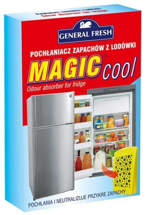 Поглотитель запахов General Fresh Magic Cool, для холодильников, 1 шт. 587101587101Поглотитель запахов для холодильников MAGIC COOL устраняет неприятные запахи, вместо того, чтобы их маскировать. Благодаря содержанию активированного угля, средство эффективно поможет избавиться от неприятных запахов, обеспечивая комфортную атмосферу в вашем доме.
