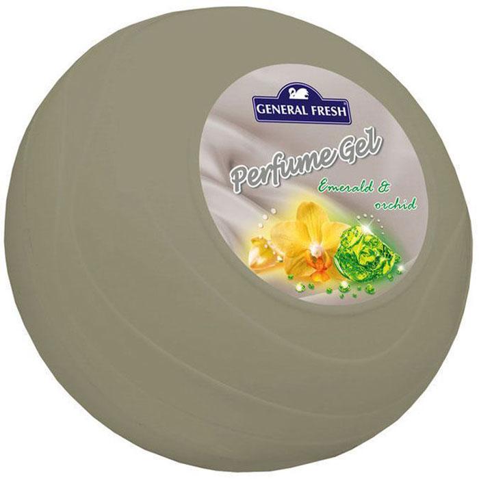 Освежитель воздуха General Fresh Perfume Gel. Изумруд и орхидея, гелевый, парфюмированный, 1 шт. 596204596204Освежитель воздуха парфюмированный в геле PERFUME GEL, с длительным и приятным запахом орхидеи предназначен для использования в любых помещениях вашего дома или офиса. Благодаря приятному аромату, создает атмосферу комфорта и уюта. Эффективно устраняет неприятные запахи и освежает воздух. Специальные компоненты, входящие в состав освежителей, обеспечивают продолжительное действие приятного аромата.