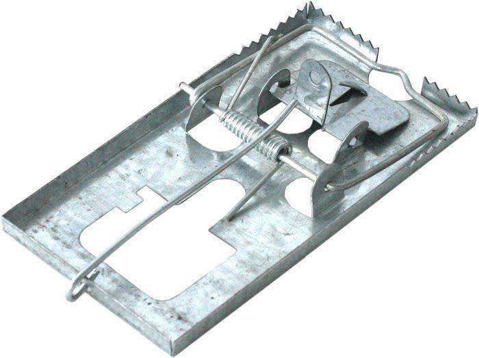 Мышеловка металлическая BROS, 1 шт.19201BROS Мышеловка металлическая. Усилена дополнительными элементами, моментальная смерть грызуна.
