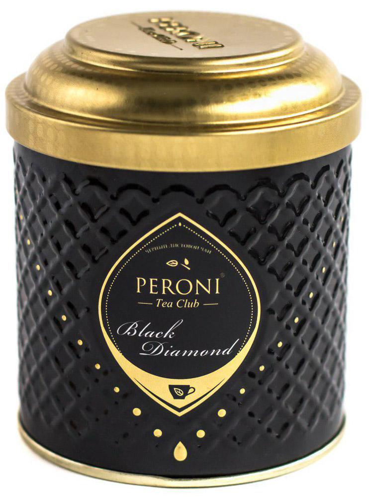 Peroni Black Diamond чай черный крупнолистовой, 70 г0120710Чёрные чаи Peroni Black Diamond - это плантационные индийские чаи и чайные бленды, отобранные командой лучших титестеров. Для создания и выбора одного этого вкуса было опробовано более 300 сортов чая из разных стран. Его отличает богатый аромат и цвет настоя, насыщенно-мягкий c терпко-шершавым послевкусием, который сравним с односолодовым виски. Для истинных ценителей и гурманов!