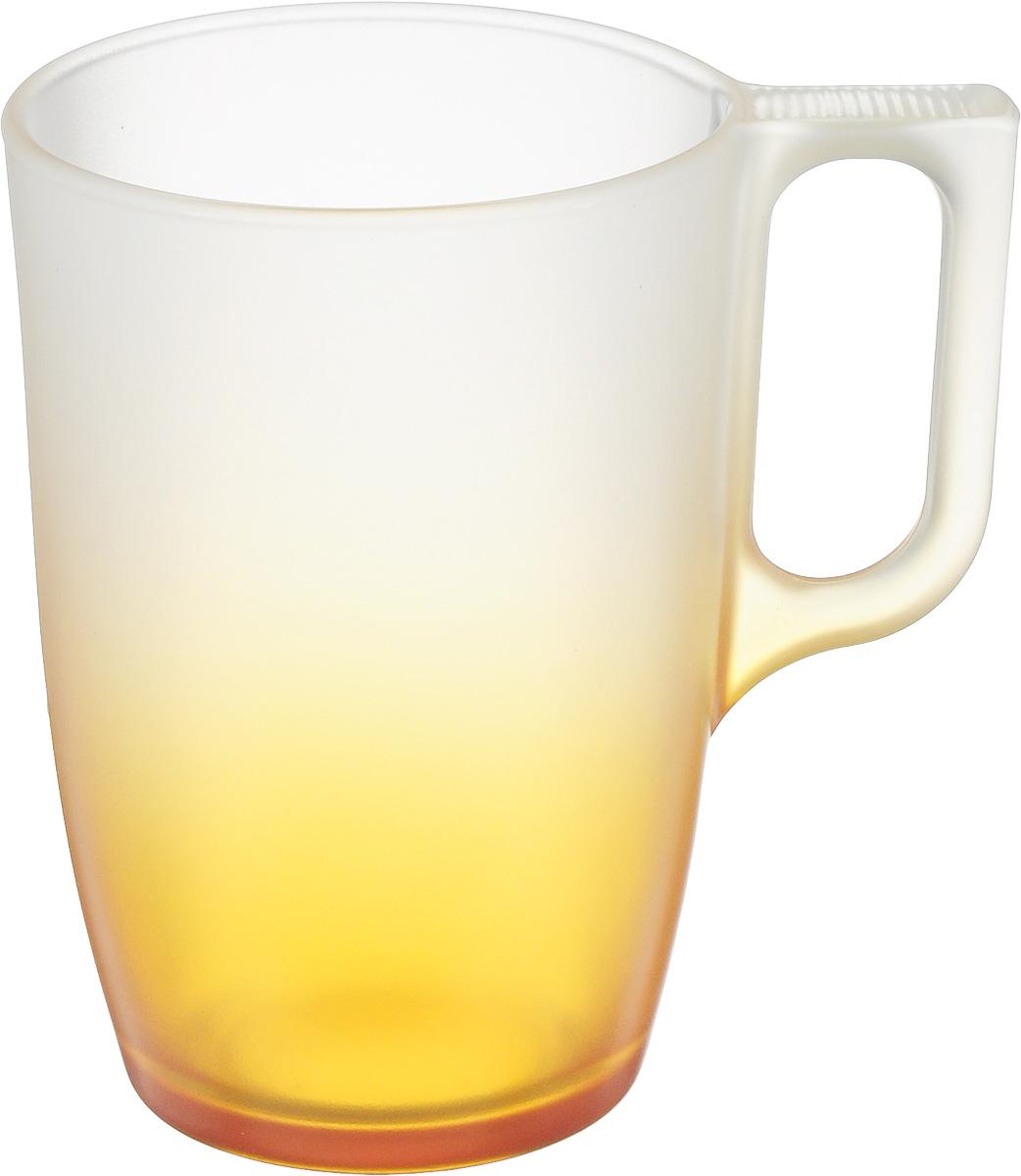 Кружка Luminarc Maritsa Orange, 320 млJ7690Кружка Luminarc Maritsa Orange изготовлена из упрочненного стекла. Такая кружка прекрасно подойдет для горячих и холодных напитков. Она дополнит коллекцию вашей кухонной посуды и будет служить долгие годы. Можно использовать в микроволновой печи и мыть в посудомоечной машине. Диаметр кружки (по верхнему краю): 7,7 см. Высота стенки кружки: 11,2 см. Бренд Luminarc - это один из лидеров мирового рынка по производству посуды и товаров для дома. В основе процесса изготовления лежит высококачественное сырье, а также строгий контроль качества.