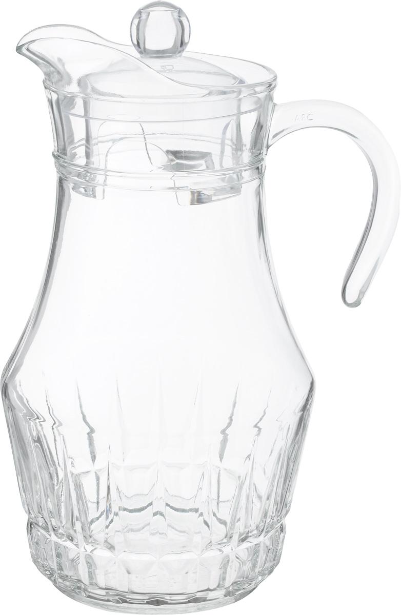 Кувшин Luminarc Victoria/Виктория, с крышкой, 1,8 лJ8130Кувшин Luminarc Arc, выполненный из высококачественного стекла, оснащен удобной ручкой. В нем будет удобно хранить и подавать на стол молоко, соки или воду. Кувшин Luminarc Arc украсит любой кухонный интерьер и станет хорошим подарком для ваших близких. Диаметр кувшина (по верхнему краю): 9,5 см. Диаметр дна: 9,5 см. Высота кувшина (с учетом крышки): 28 см.