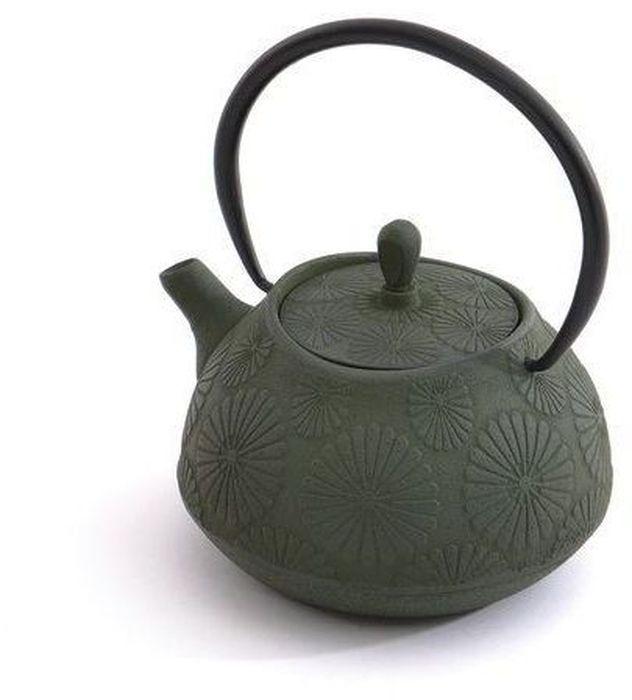Чайник заварочный BergHOFF Studio, чугунный, цвет: зеленый, 1,1 л. 11071221107122