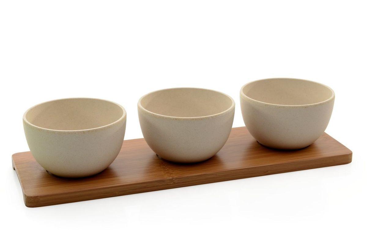 Набор мисочек для закусок BergHOFF Cook&Co, на подставке, 300 мл, 3 предмета2800052