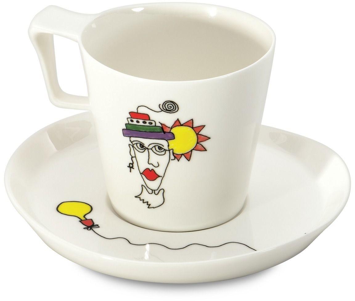 Набор чашек для завтрака BergHOFF Eclipse, с блюдцем, 400 мл, 2 шт3705008