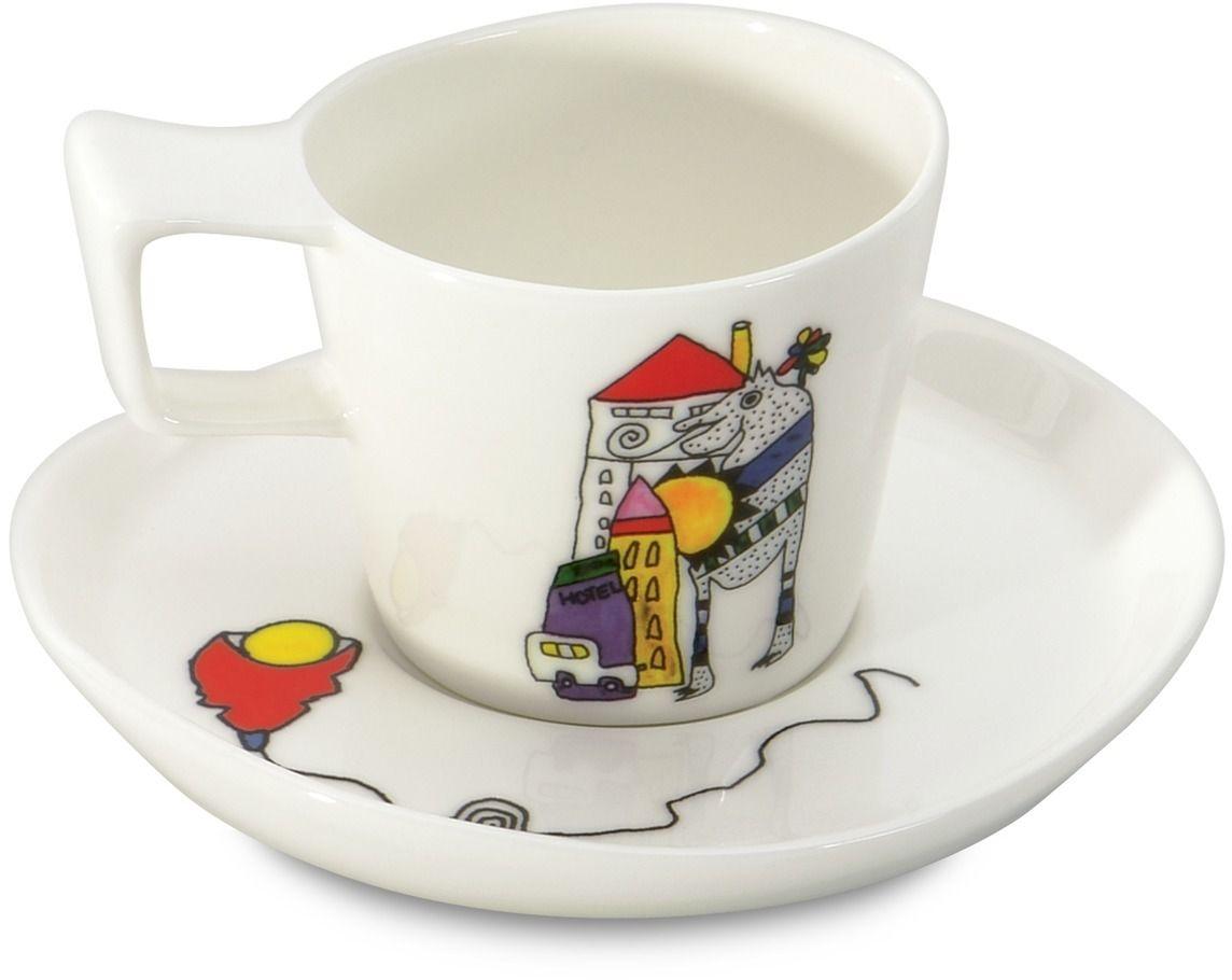 Набор чашек для эспрессо BergHOFF Eclipse, с блюдцем, 80 мл, 2 шт3705022