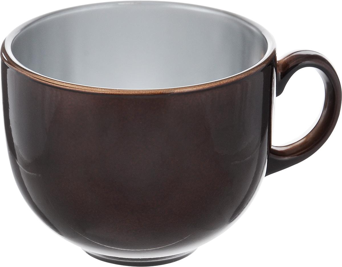 Бульонница Luminarc Flashy Colors, цвет: коричневый, 500 млJ1114Бульонница Luminarc Flashy Colors, изготовлена из высококачественного стекла, оснащена эргономичной ручкой. Изделие дополнит коллекцию кухонной посуды и будет служить долгие годы. Можно мыть в посудомоечной машине и использовать в микроволновой печи. Диаметр (по верхнему краю): 10,5 см. Высота бульонницы: 9 см.