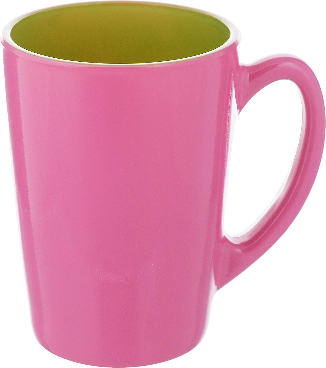 Кружка Luminarc Spring Break, цвет: малиновый, салатовый, 320 мл. J3417-1115610Кружка Luminarc Spring Break, изготовленная из ударопрочного стекла, прекрасно подойдет для горячих и холодных напитков. Она дополнит коллекцию вашей кухонной посуды и будет служить долгие годы. Можно использовать в микроволновой печи и мыть в посудомоечной машине. Диаметр кружки (по верхнему краю): 8 см.Высота стенки кружки: 11 см.