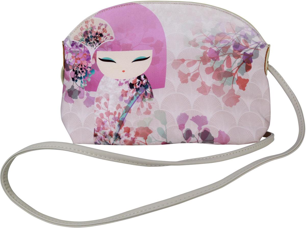 Сумка женская Kimmidoll Макото, цвет: белый. KF1136KF1136Стильная сумка пригодится тебе в учебе, в путешествии, и в повседневном использовании. Просторное основное отделение закрывается на молнию.