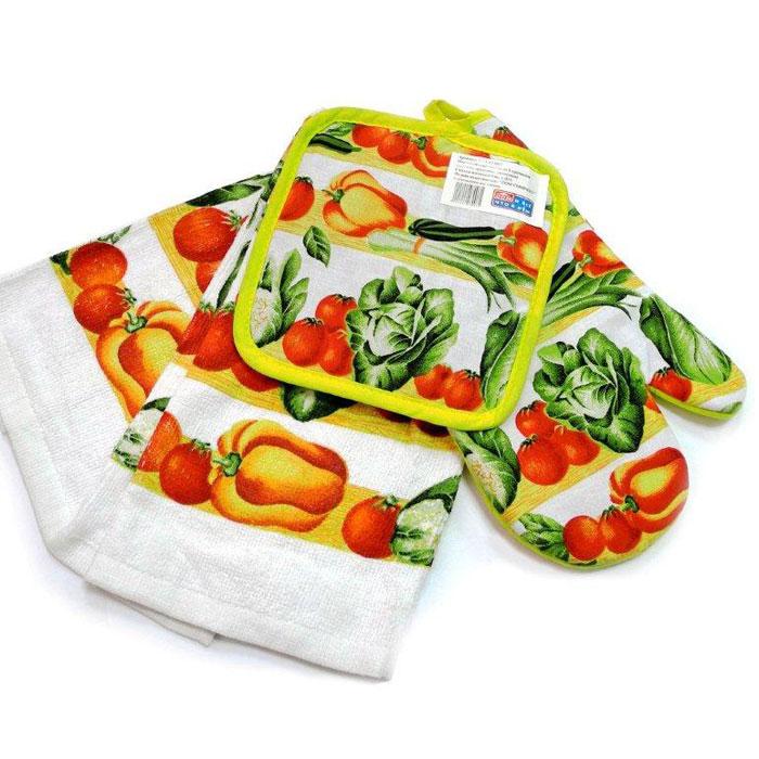 Набор кухонных принадлежностей Дом и все, что в нем, полотенце, прихватка, варежкаS/YZA-075042