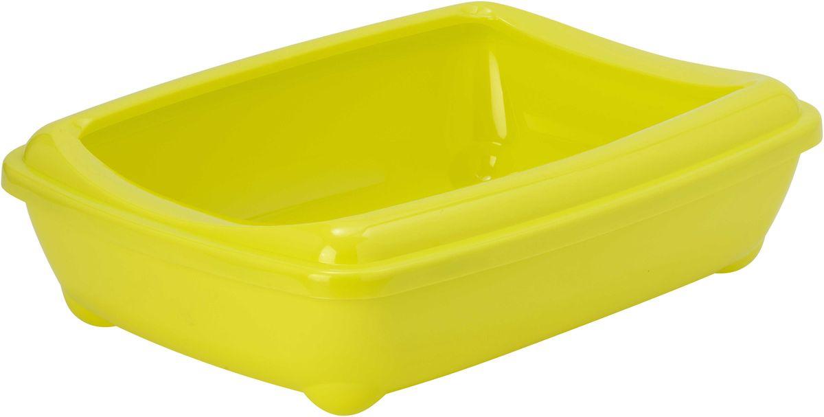 Открытый туалет для кошек Moderna Arist-O-Tray, цвет: лимон, 38 х 50 х 14 см14C192329