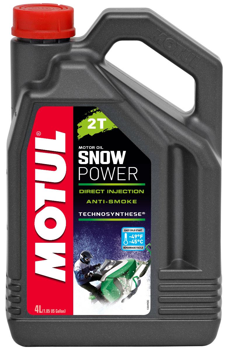 Масло моторное Motul Snowpower 2T. Technosynthese, синтетическое, 4 л105888Специальная формула масла снижает дымность выхлопа. Предназначено специально для 2-х тактных двигателей снегоходов, которые используются в полярных условиях. Все типы 2-х тактных двигателей с раздельной и смешанной смазкой. Все типы применения, в том числе и соревнования.