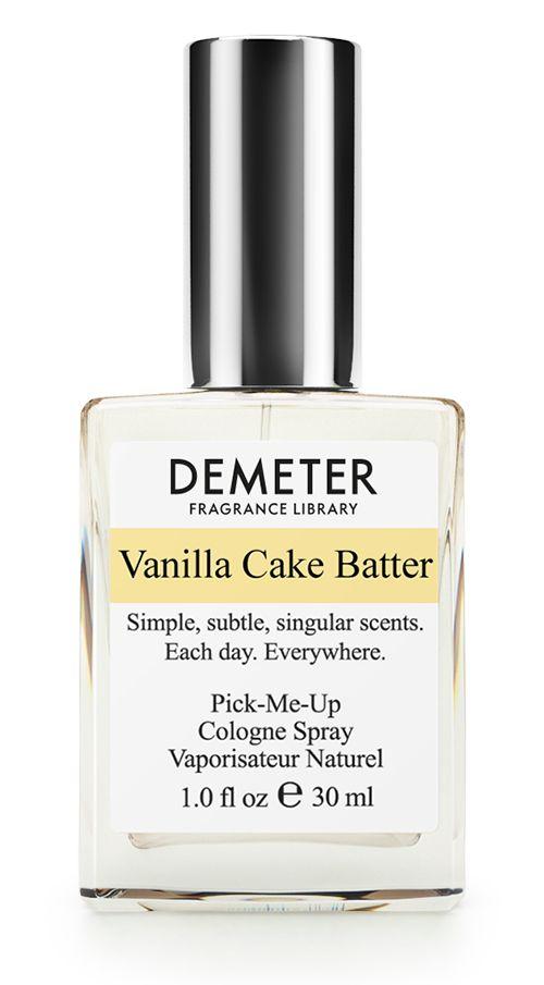 Demeter Fragrance Library Духи-спрей Ванильная сдоба (Vanilla cake batter), женские, 30 мл1301210Qu'ils mangent de la brioche! Вы когда-нибудь заходили с утра в настоящую пекарню, из которой доносится аромат свежего хлеба, вкусных тортов и румяных булочек с вареньем? Наверняка вы понимаете, о чем речь: когда голову дурманит тот самый теплый и очень сладкий запах. Для тех, кто был в такой пекарне, новый аромат от Demeter Ванильная сдоба — это отличный способ закрепить свои сладкие кулинарные воспоминания. А тем, кто не бывал там, рекомендуется сначала попробовать эти духи. У вас нет хлеба? Берите Vanilla Cake Batter!Способ применения: нанести на сухую, чистую кожу. На точки пульса, волосы, одежду. Духи считаются самым изысканным видом парфюмерной продукции и содержат самый большой процент ароматической композиции (от 15% до 30% и более), растворенной в очень чистом спирте (96% об.). Высокое содержание экстракта обеспечивает духам большую стойкость и силу по сравнению с другими видами парфюмерных товаров. Всего лишь пары капель достаточно для того, чтобы запах держался в течение 5 и более часов. Товар сертифицирован.