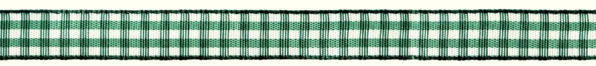 Лента декоративная Prym Клетка, цвет: белый, зеленый, 10 мм, 4 м09840-20.000.00Лента для украшения, поделок, оформления и упаковки подарков