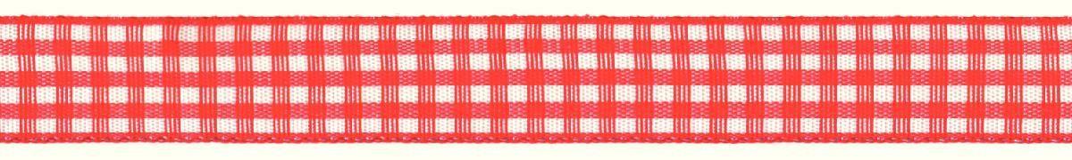 Лента декоративная Prym Клетка, цвет: белый, красный, 15 мм, 3 мNLED-405-0.5W-MЛента для украшения, поделок, оформления и упаковки подарков