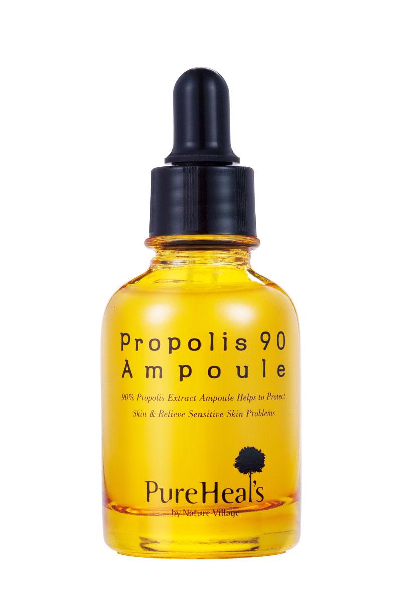 PurehealS Сыворотка с прополисом Propolis 90 Ampoule, 30 млpur4Увлажняющая линия разработанная для чувствительной кожи. Укрепляет и создает естественный щит благодаря натуральному прополису медоносной пчелы! Линия Propolis эффективно успокаивает кожу и защищает ее. Укрепляющая и успокаивающая сыворотка для обезвоженной и чувствительной кожи с экстрактом прополиса 90%. Увлажнение на 24 часа.