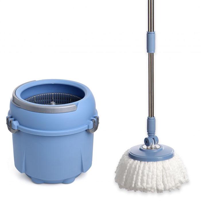 Комплект для мытья полов TATAY Twister Compact, 8 л1030100Комплект для мытья полов TWISTER COMPACT 8 л. Применение ведра со шваброй: Полоскание насадок: 1. Соберите ведро и ручку, установите насадку в соответствии с инструкцией (входит в комплект). 2. Наполните ведро водой до отметки максимального уровня воды. 3. Поместите основу швабры с насадкой в середину центрифуги и нажмите на нее до щелчка. 4. Поднимите швабру с центрифугой вверх, а затем опустите на дно ведра. 5. Нажимайте на телескопическую ручку, чтобы промыть насадку. Отжим насадки: 1. Поместите пластину в середину центрифуги и нажмите на нее до щелчка. Убедитесь, что весь ворс находится в центрифуге, иначе вода может попасть Вам на ноги или пол. 2. Поднимите швабру с центрифугой вверх. 3. Держите швабру вертикально и нажимайте на ручку, чтобы отжать насадку. 4. Вытаскивайте швабру только после полной остановки центрифуги. Насадку можно стирать в стиральной машине.