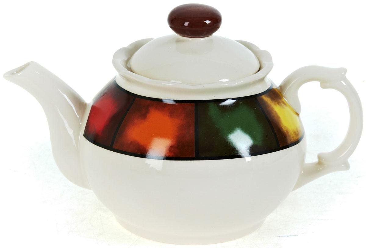 Чайник заварочный ENS Group Мармелад, 950 мл0050001Заварочный чайник Мармелад изготовлен из высококачественной керамики. Изделие прекрасно подходит для заваривания вкусного и ароматного чая, а также травяных настоев. Отверстия в основании носика препятствуют попаданию чаинок в чашку. Яркий дизайн сделает чайник настоящим украшением стола.