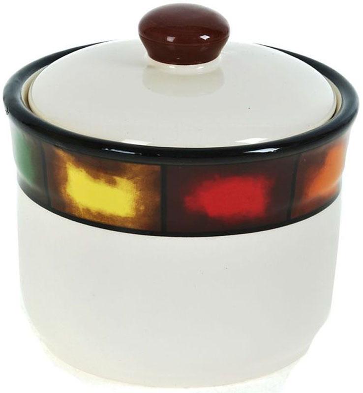 Сахарница ENS Group Мармелад, 390 мл0050005Сахарница Мармелад с крышкой изготовлена из высококачественной керамики и украшена разноцветной полосой. Емкость универсальна, подойдет как для сахара, так и для специй или меда.