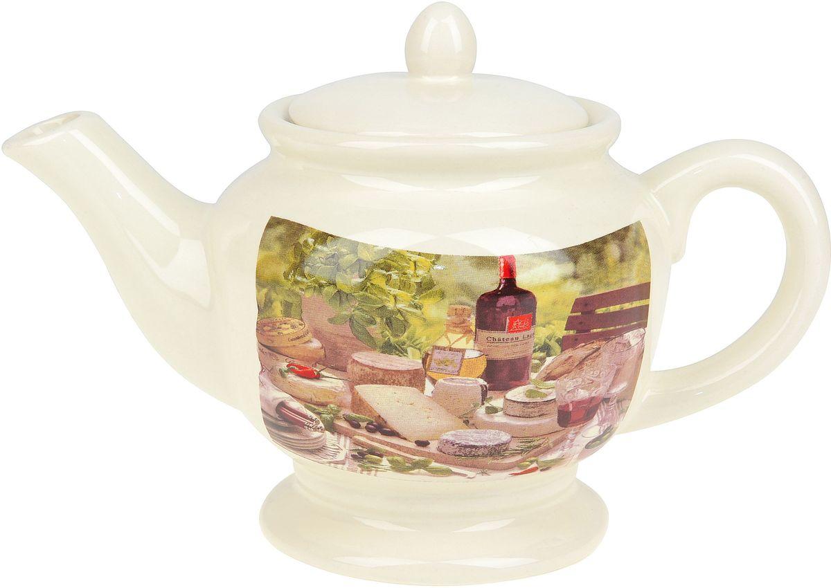 Чайник заварочный ENS Group Тоскана, 900 мл0910023Заварочный чайник Тоскана изготовлен из высококачественного доломита. Изделие прекрасно подходит для заваривания вкусного и ароматного чая, а также травяных настоев. Отверстия в основании носика препятствуют попаданию чаинок в чашку. Красочный дизайн сделает чайник настоящим украшением стола.