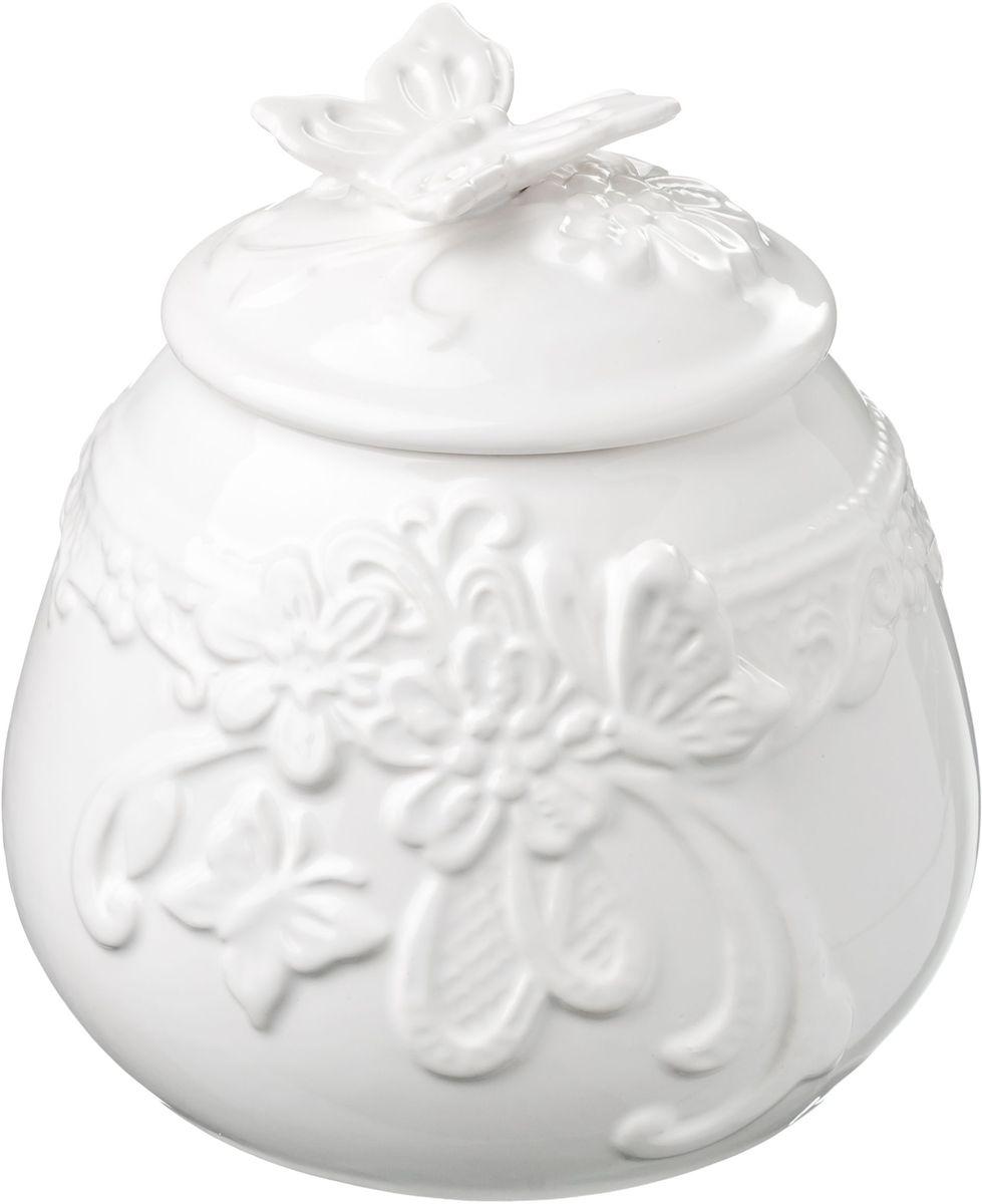 Сахарница Vetta Бабочка, 800 мл824785Сахарница с крышкой Бабочка, изготовленная из высококачественной керамики, доставит истинное удовольствие ценителям прекрасного. Сахарница и крышка украшена рельефным рисунком в виде узоров, бабочек и цветов. Оригинальность оформления придется по вкусу и ценителям классики, и тем, кто предпочитает утонченность и изысканность.