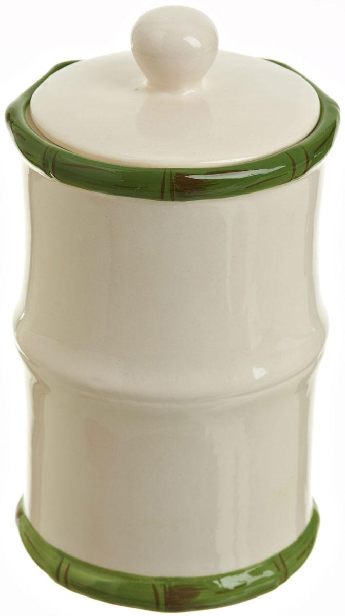 Банка для сыпучих продуктов Polystar Nature Design, 700 млL0200086Банка для сыпучих продуктов Nature Design изготовлена из прочной керамики, закрывается крышкой. Изделие оригинальной формы в виде бамбука. Банка прекрасно подойдет для хранения различных сыпучих продуктов: чая, кофе, сахара, круп и многого другого. Изящная емкость не только поможет хранить разнообразные сыпучие продукты, но и стильно дополнит интерьер кухни.