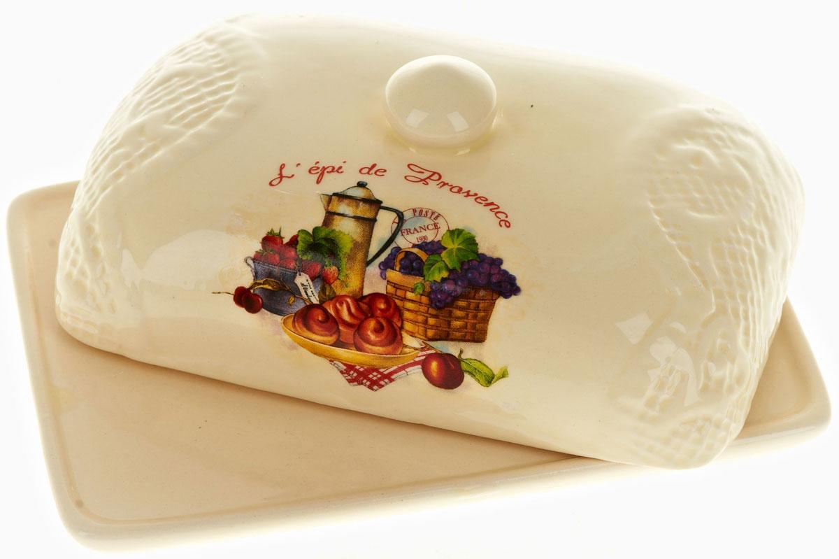 Масленка Polystar French breakfastL0200146Масленка French breakfast выполнена из высококачественной керамики в виде подноса с крышкой. Изделие оформлено оригинальным рисунком и имеет изысканный внешний вид. Масленка предназначена для красивой сервировки стола и хранения масла.