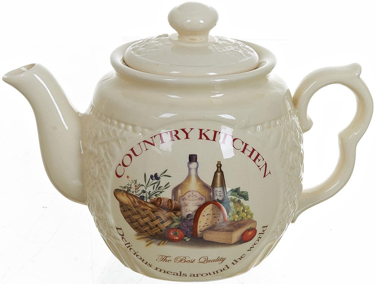 Чайник заварочный Polystar Country Kitchen, 1 лL0210030Заварочный чайник Country Kitchen изготовлен из высококачественной керамики. Изделие прекрасно подходит для заваривания вкусного и ароматного чая, а также травяных настоев. Отверстия в основании носика препятствуют попаданию чаинок в чашку. Уютный дизайн сделает чайник настоящим украшением стола.