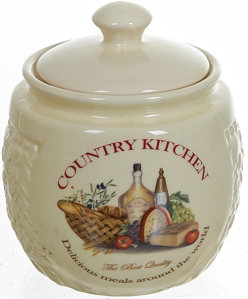 Сахарница Polystar Country Kitchen, 450 млL0210031Сахарница Country Kitchen с крышкой изготовлена из высококачественной керамики и украшена уютным рисунком. Емкость универсальна, подойдет как для сахара, так и для специй или меда.
