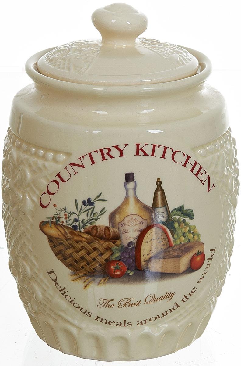 Банка для сыпучих продуктов Polystar Country Kitchen, 1 лL0210043Банка для сыпучих продуктов Country Kitchen изготовлена из прочной керамики, закрывается крышкой. Банка прекрасно подойдет для хранения различных сыпучих продуктов: чая, кофе, сахара, круп и многого другого. Изящная емкость не только поможет хранить разнообразные сыпучие продукты, но и стильно дополнит интерьер кухни.