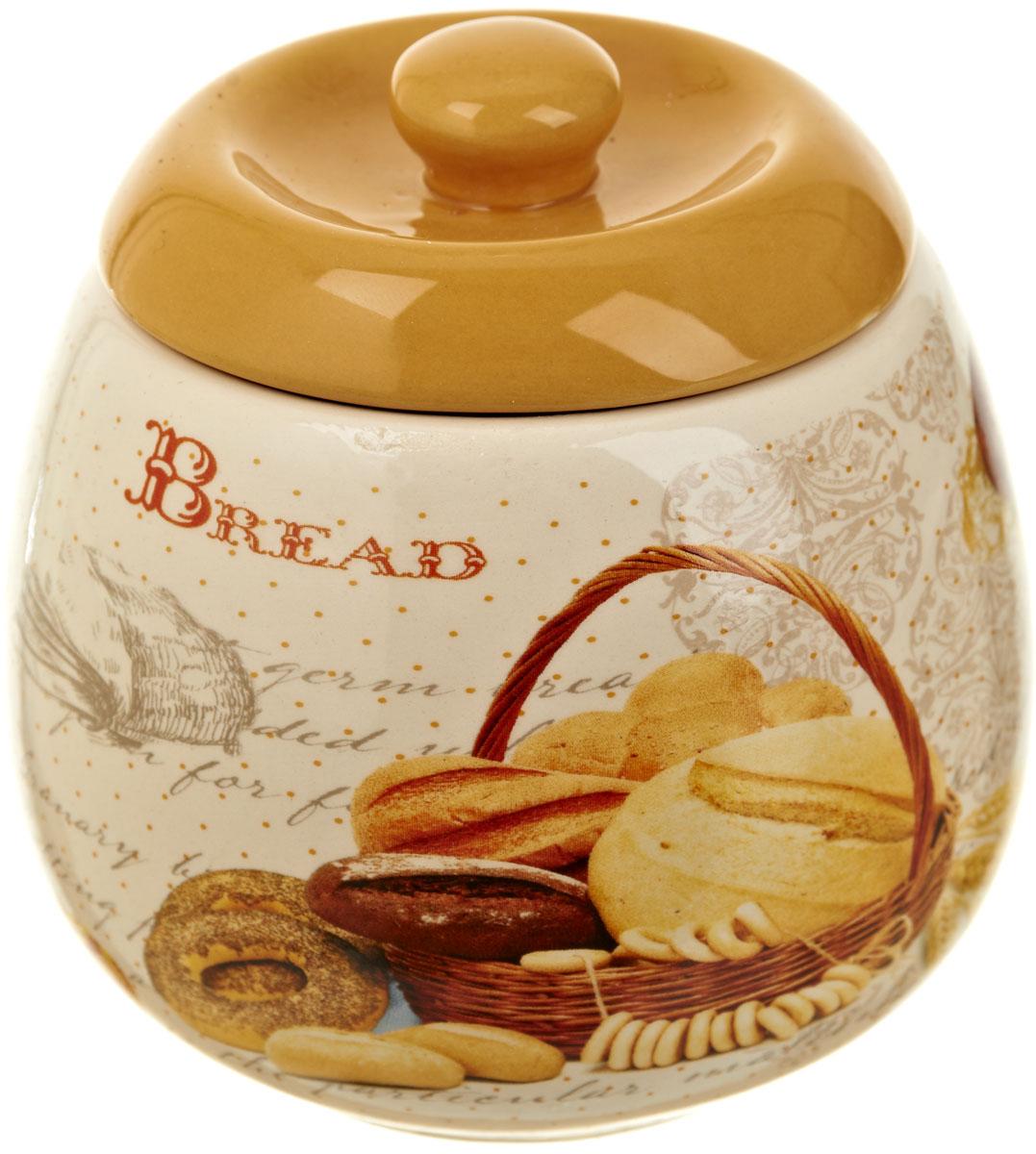 Сахарница Polystar Хлеб, 500 мл115510Сахарница Хлеб с крышкой изготовлена из высококачественной керамики и декорирована оригинальным рисунком. Емкость универсальна, подойдет как для сахара, так и для меда.