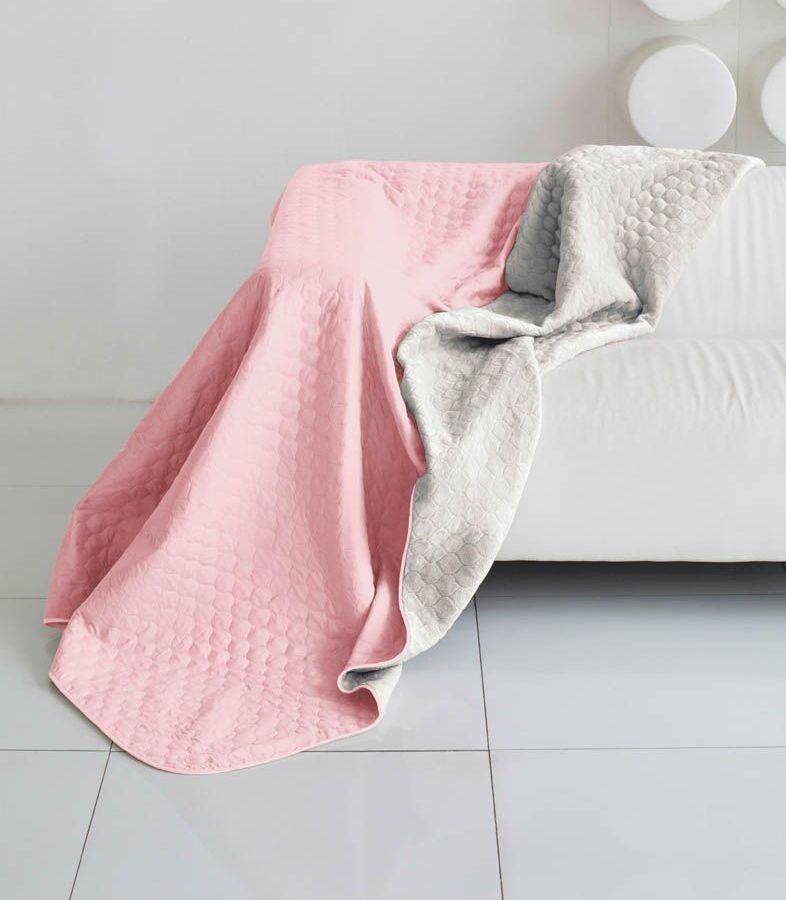 Комплект для спальни Sleep iX Multi Set, евро, цвет: розовый, серый, 4 предмета. pva221553ES-412Комплект для спальни Sleep iX Multi Set состоит из покрывала, простыни, 2 наволочек. Верх многофункционального одеяла-покрывала выполнен из мягкой микрофибры, которая хорошо сохраняет тепло, устойчива к стирке и износу, а низ выполнен изискусственного меха. Этот мех не требует специального ухода, он легко чистится и долгое время сохраняет мягкость и внешний вид. Наволочки, простыня и чехлы подушек выполнены из микрофибры. Комплект для спальни Sleep iX Multi Set - это прекрасный способ придать спальне уют и привнести в интерьер что-то новое.Размер одеяла-покрывала: 200 х 220 см.Размер простыни: 230 х 240 см.Размер наволочек: 50 х 70 см. (2 шт)Наполнитель: Силиконизированное волокно.