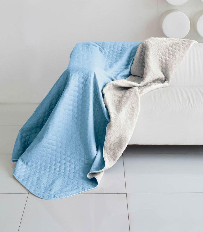 Комплект для спальни Sleep iX Multi Set, 2-спальный, цвет: голубой, серый, 6 предметов. pva221590S03301004Комплект для спальни Sleep iX Multi Set состоит из покрывала, простыни, 2 наволочек и 2 подушек. Верх многофункционального одеяла-покрывала выполнен из мягкой микрофибры, которая хорошо сохраняет тепло, устойчива к стирке и износу, а низ выполнен изискусственного меха. Этот мех не требует специального ухода, он легко чистится и долгое время сохраняет мягкость и внешний вид. Наволочки, простыня и чехлы подушек выполнены из микрофибры. Комплект для спальни Sleep iX Multi Set - это прекрасный способ придать спальне уют и привнести в интерьер что-то новое.Размер одеяла-покрывала: 180 х 220 см.Размер простыни: 230 х 240 см.Размер наволочек: 50 х 70 см. (2 шт)Размер подушек: 50 х 68 см. (2 шт)Наполнитель: Силиконизированное волокно.