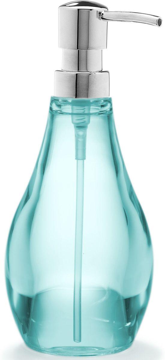 Диспенсер для мыла Umbra Droplet, цвет: морская волна, 19 х 9 х 9 смUP210DFМыло душистое, полотенце пушистое - если мыть руки, то с этим слоганом. Потому что приятно пахнущее мыло, например, ванильное или земляничное, поднимает настроение. А если оно внутри красивого диспенсера, который поможет отмерить нужное количество, это вдвойне приятно. Те, кто покупает жидкое мыло, знают, что очень часто оно продается в некрасивых упаковках или очень больших бутылках, которые совершенно неудобно ставить на раковину. Проблема решена вот с таким лаконичным симпатичным диспенсером. Теперь вы не забудете вымыть руки перед едой! А благодаря прозрачным стенкам, всегда видно, когда стоит пополнить резервуар. P.S. (Важная подсказка): диспенсер также можно использовать на кухне для моющего средства, получается очень экономно.